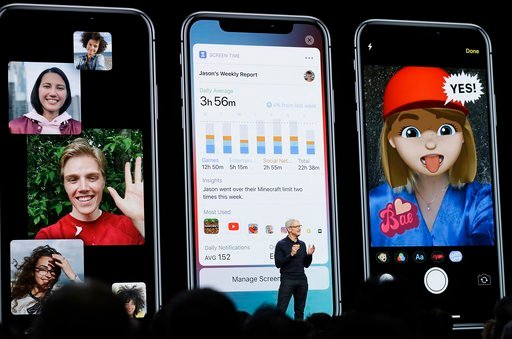 FILE- In this June 4, 2018, file photo Apple CEO Tim Cook speaks during an announcement of new products at the Apple Worldwide Developers Conference in San Jose, Calif. (AP Photo/Marcio Jose Sanchez, File)