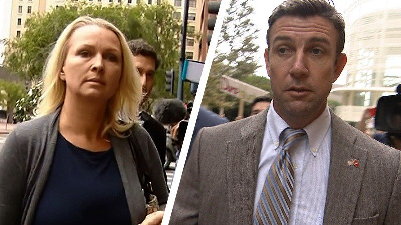 San Diego-area Rep. Duncan Hunter and his wife, Margaret. (Sept. 24, 2018)