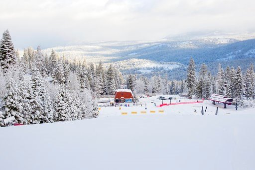An area of Northstar California Resort near Truckee, Calif., is blanketed with snow on Thursday, Nov. 22, 2018. (Northstar California Resort via AP)