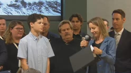 Teen who survived shark attack honored by City of Encinitas