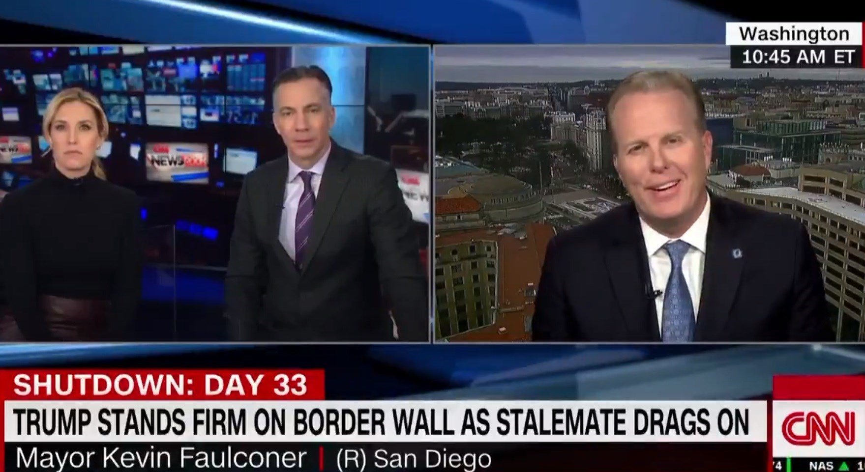 Mayor Faulconer stresses the need to reopen the government during CNN interview