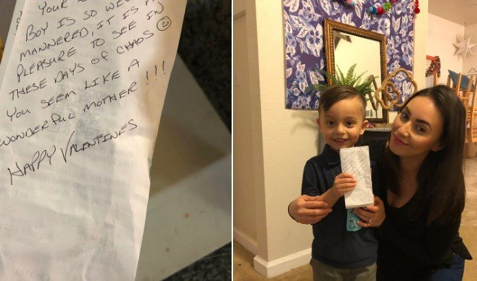 Sweet note and Red Lobster bill paid for San Diego family