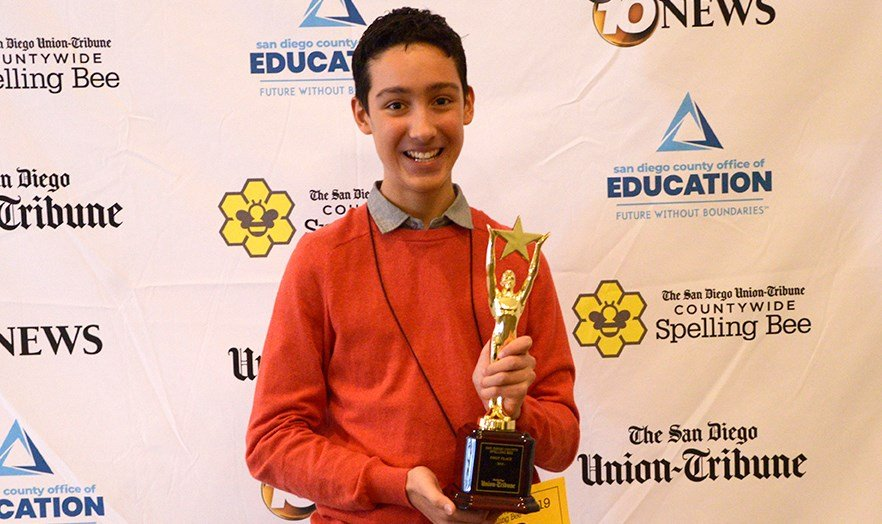 Elliott Husseman will now go on to represent San Diego County at the Scripps National Spelling Bee.