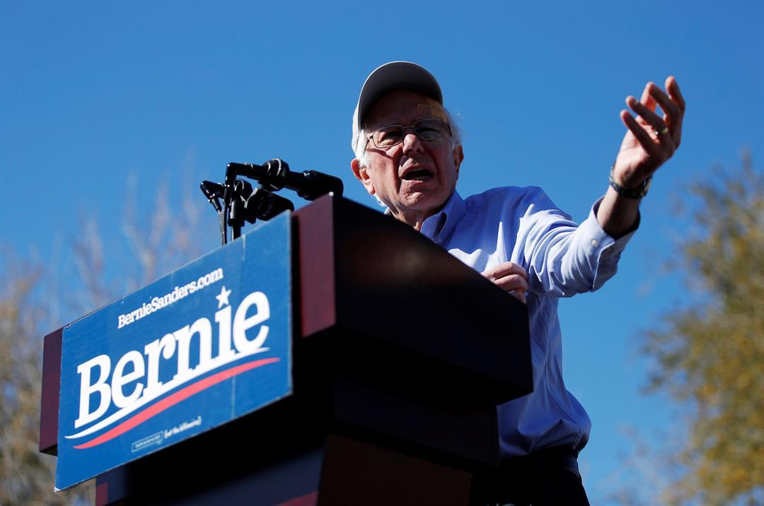 2020 Democratic presidential candidate Sen. Bernie Sanders speaks at a rally Saturday, March 16, 2019, in Henderson, Nev. (AP Photo/John Locher)