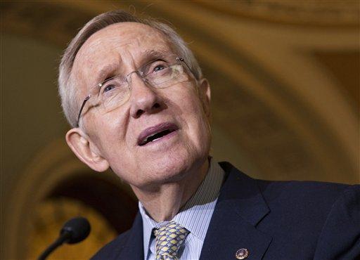 FILE - In this Oct. 29, 2013 file photo, Senate Majority Leader Harry Reid, D-Nev. speaks on Capitol Hill in Washington. (AP)
