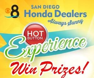 ENTER TO WIN The CBS 8 Honda Hot Button Experience