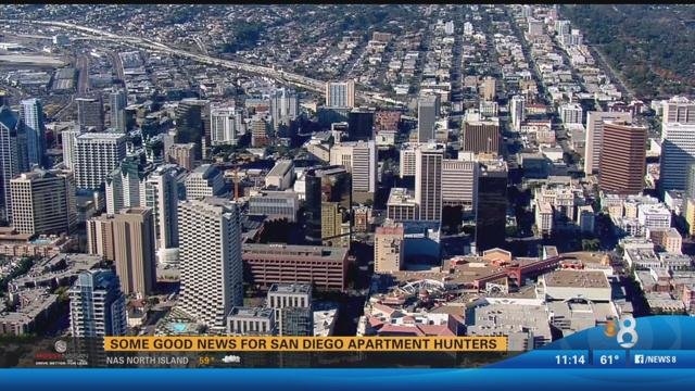 San Go Cbs 8 Apartment Al Prices Continue To Up With The Average Price Of A Two Bedroom Now Around 2 200