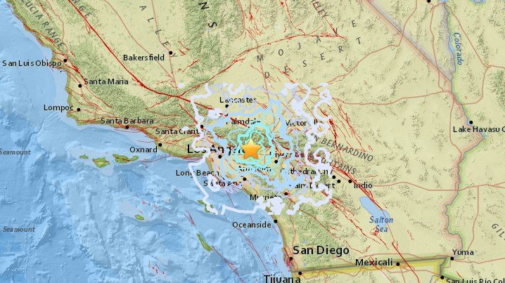 Magnitude 4 4 Earthquake Hits In Los Angeles County Felt In Sango