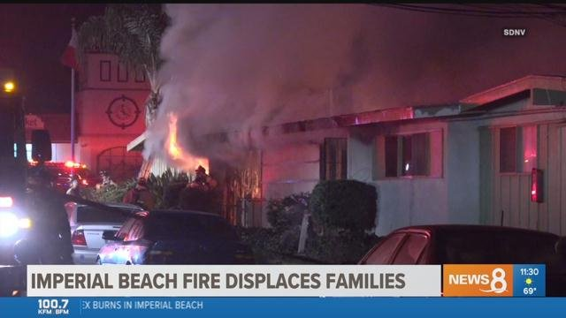 Forty People Displaced By Two Alarm Fire In Imperial Beach Cbs News 8 San Go Ca Station Kfmb Channel