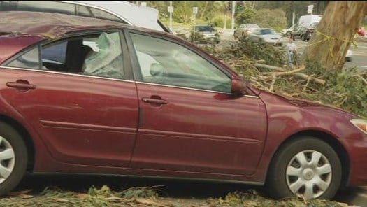 car survives two natural disasters and gets totaled in san diego cbs news 8 san diego ca. Black Bedroom Furniture Sets. Home Design Ideas