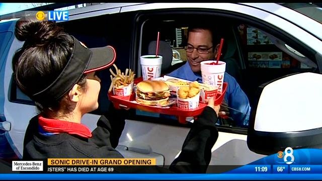 Sonic Drive In Grand Opening Cbs News 8 San Diego Ca